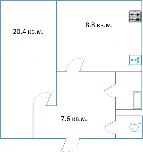 3 однокомнатные квартиры